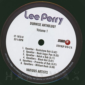 Cover art - Lee Perry: Dubwise Anthology Vol.1 (Dubs)