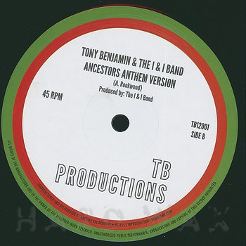 Cover art - Tony Benjamin & The I & I Band: Ancestors Anthem