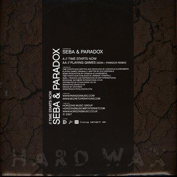 Cover art - Seba & Paradox: Time Starts Now