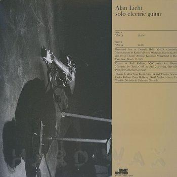 Cover art - Alan Licht: YMCA