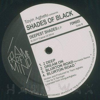 Cover art - Toyin Agbetu presents Shades Of Black: Deepest Shades