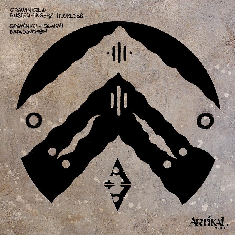 Cover art - Grawinkel, Busted Fingerz & Quasar: Reckless / Data Dungeon
