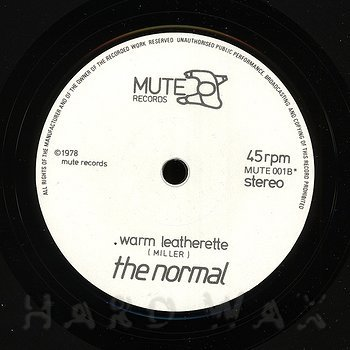 Cover art - The Normal: Warm Leatherette
