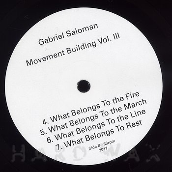 Cover art - Gabriel Saloman: Movement Building Vol. 3