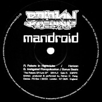 Cover art - Mandroid: Robots of Funk EP