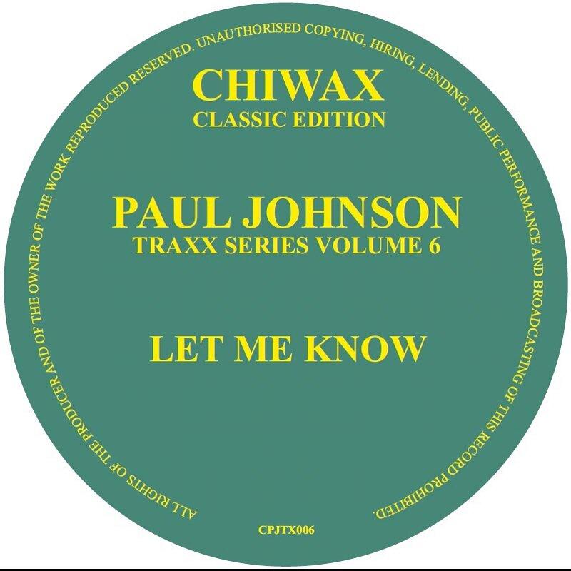 Cover art - Paul Johnson: Let Me Know