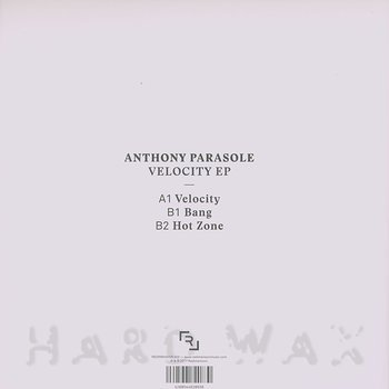 Cover art - Anthony Parasole: Velocity EP