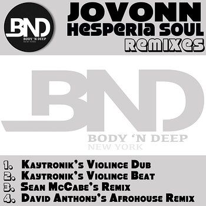 Cover art - Jovonn: Hesperia Soul Remixes
