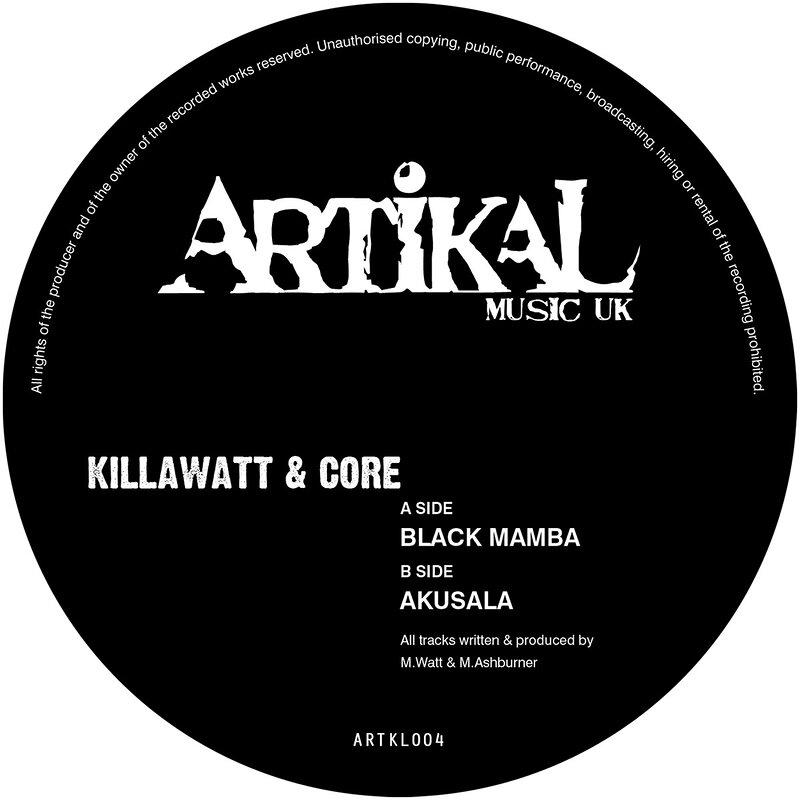 Cover art - Killawatt & Core: Black Mamba / Akusala