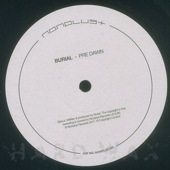 Cover art - Burial: A Pre Dawn
