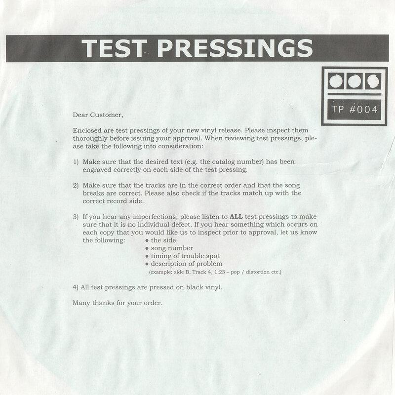 Cover art - Demdike Stare: Testpressing #004