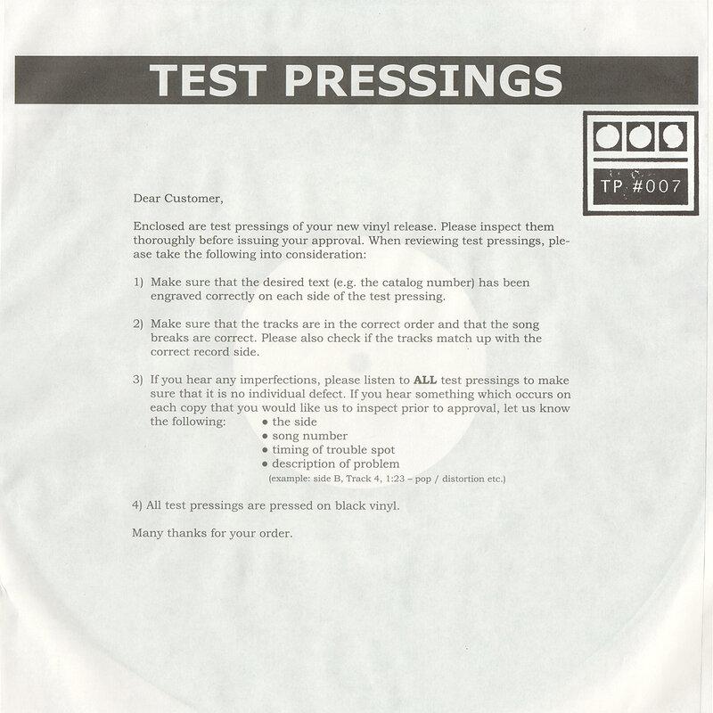 Cover art - Demdike Stare: Testpressing #007