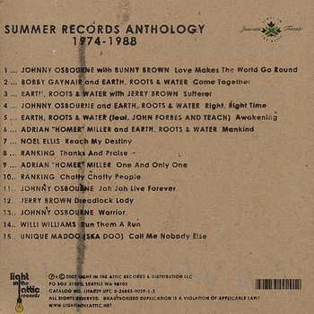 Cover art - Various Artists: Summer Records Anthology 1974 - 1988