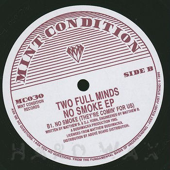 Cover art - Two Full Minds: No Smoke