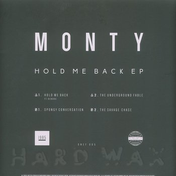 Cover art - Monty: Hold Me Back EP