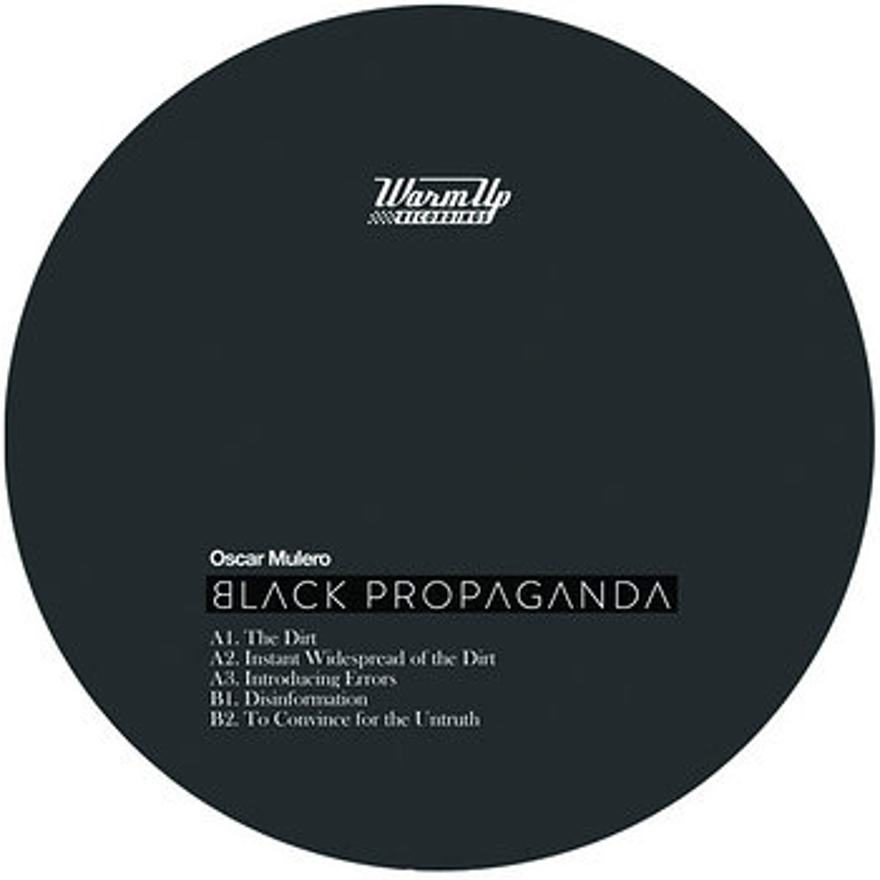 Cover art - Oscar Mulero: Black Propaganda