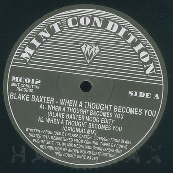 Cover art - Blake Baxter: When A Thought Becomes You