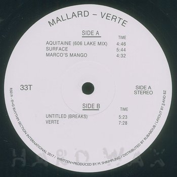 Cover art - Mallard: Verte