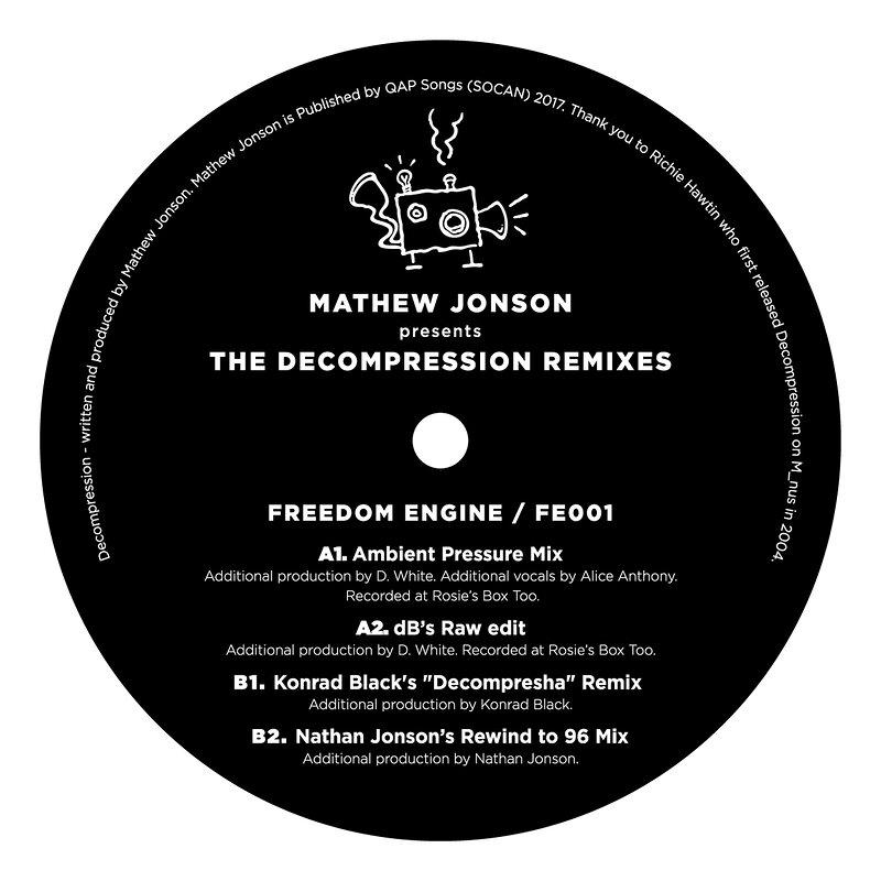 Cover art - Mathew Jonson: presents The Decompression Remixes
