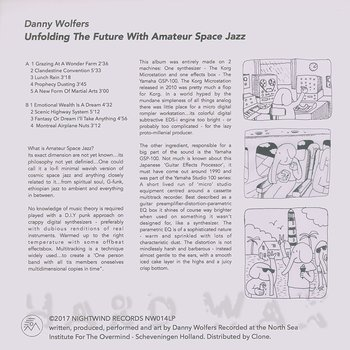 Cover art - Danny Wolfers: Unfolding The Future With Amateur Space Jazz