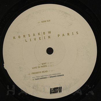 Cover art - Korsakow: Live in Paris