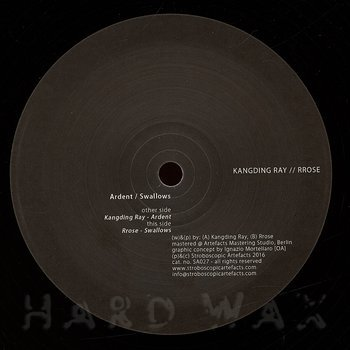 Cover art - Kangding Ray / Rrose: Ardent / Swallows