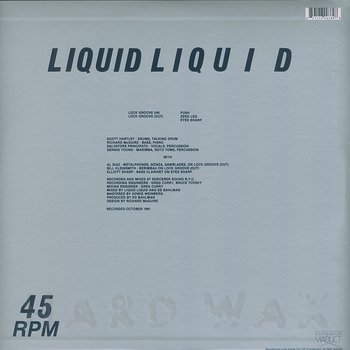 Cover art - Liquid Liquid: Successive Reflexes