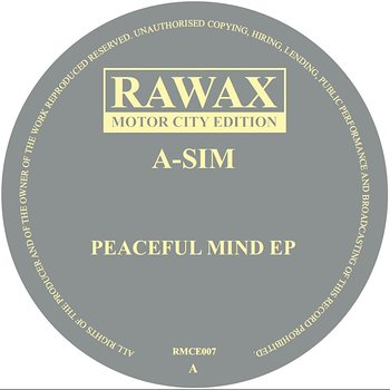 Cover art - A-Sim: Peaceful Mind EP
