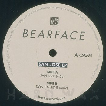 Cover art - Bearface: San Jose