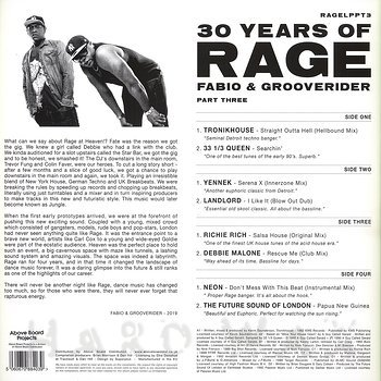 Cover art - Various Artists: Fabio & Grooverider - 30 Years of Rage Part 3