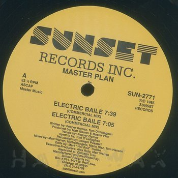 Cover art - Master Plan: Electric Baile