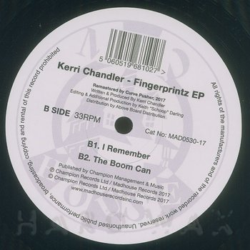 Cover art - Kerri Chandler: Fingerprintz EP