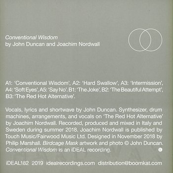 Cover art - John Duncan & Joachim Nordwall: Conventional Wisdom