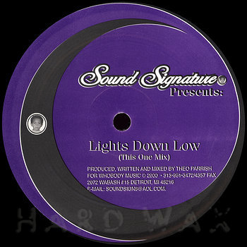 Cover art - Theo Parrish: Lights Down Low
