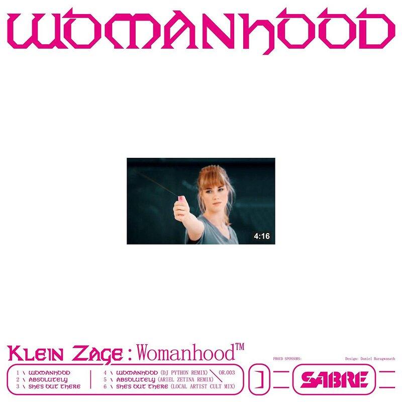Cover art - Klein Zage: Womanhood EP