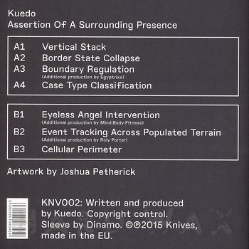 Cover art - Kuedo: Assertion Of A Surrounding Presence