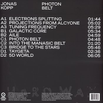 Cover art - Jonas Kopp: Photon Belt