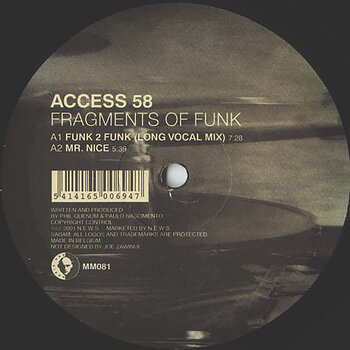 Cover art - Access 58: Fragments Of Funk