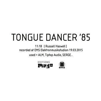 Cover art - Russell Haswell: Tongue Dancer '85