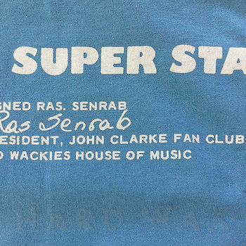 Cover art - Short Sleeve, Size M: Reggae Super Star, sky blue