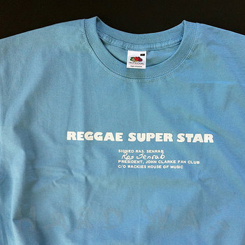 Cover art - Short Sleeve, Size XL: Reggae Super Star, sky blue