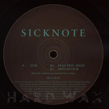 Cover art - Sicknote: SCM // Electric High // Hitchcock