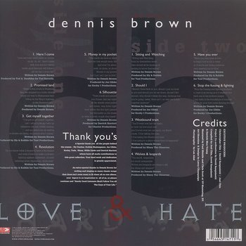 Cover art - Dennis Brown: Love & Hate