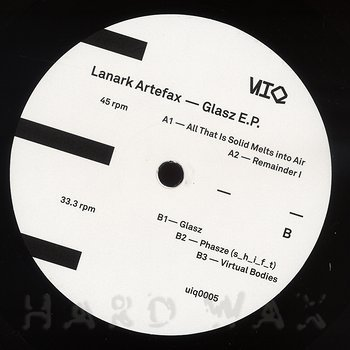Cover art - Lanark Artefax: Glasz E.P