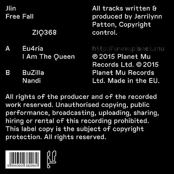 Cover art - Jlin: Free Fall EP