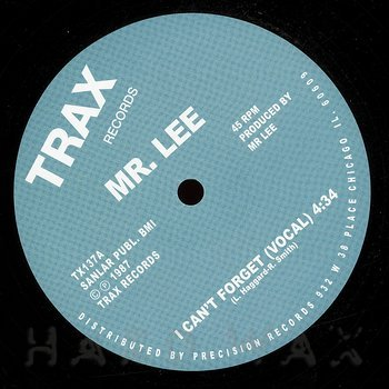 Cover art - Mr. Lee: I Can't Forget
