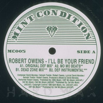 Cover art - Robert Owens: I'll Be Your Friend