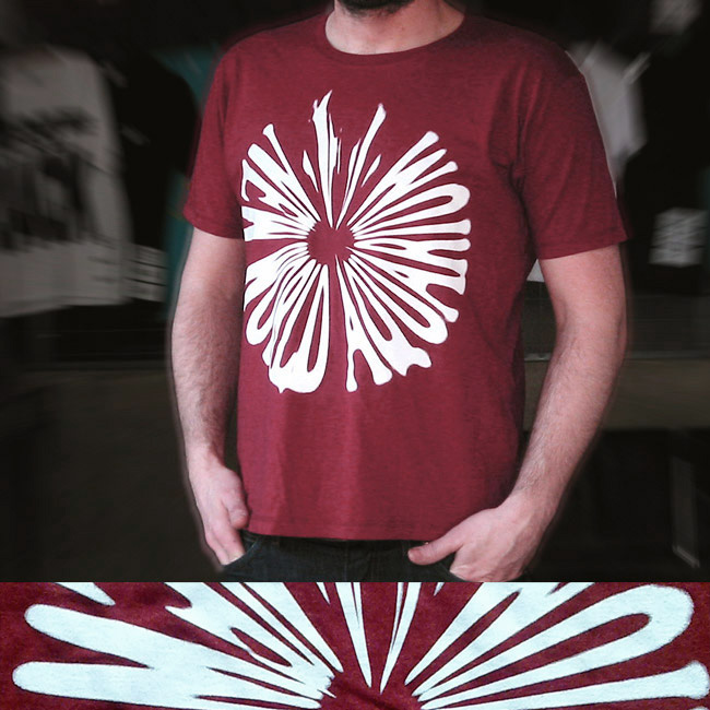 Cover art - Short Sleeves, Size S: Melange Wine Red