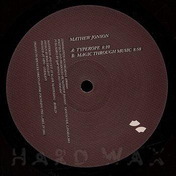 Cover art - Mathew Jonson: Typerope EP