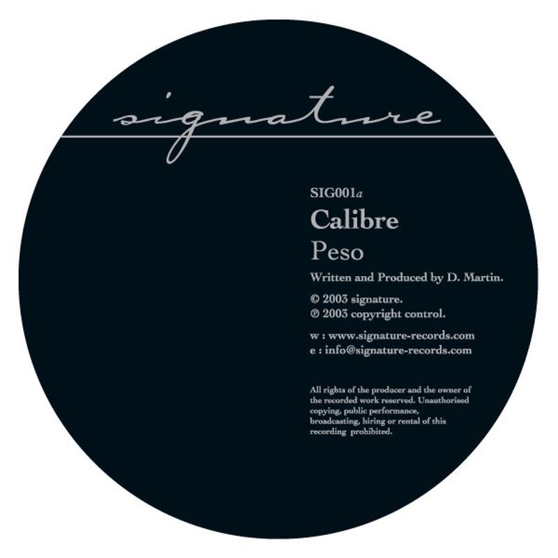 Cover art - Calibre: Peso